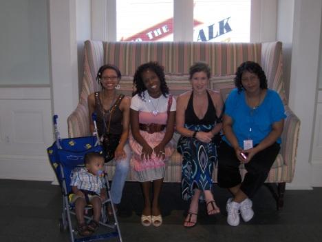 Sheena, Laura, Maria and Latricia relax at Disney