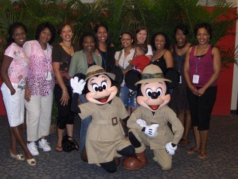 Mocha Moms with Mickey & Minnie