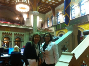At the State Assembly in Albany